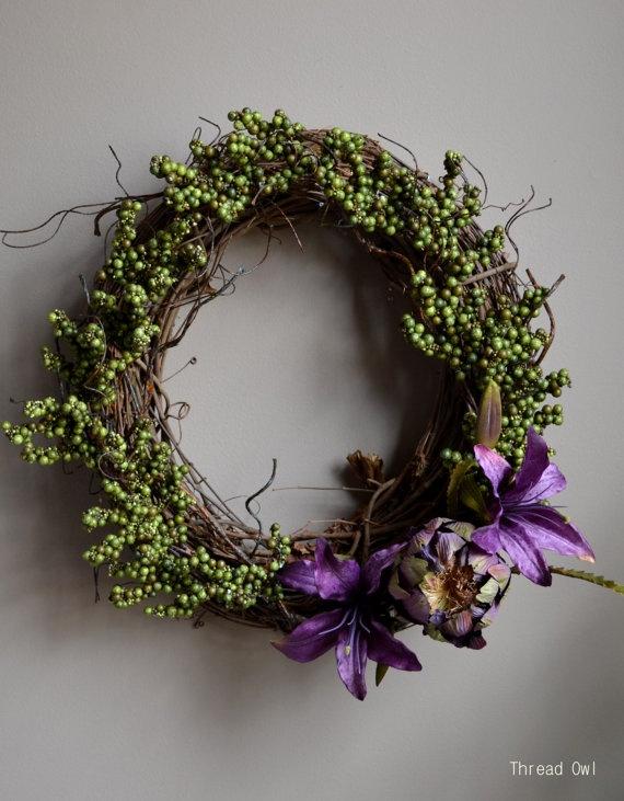 Ready For Spring Wreath by Thread Owl on Etsy, $49.99