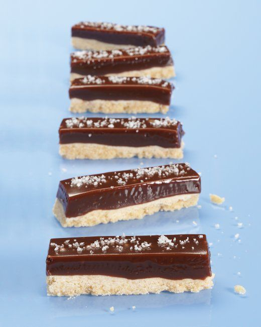Chocolate-Caramel Cookie Bars...these are a holiday staple at our ...