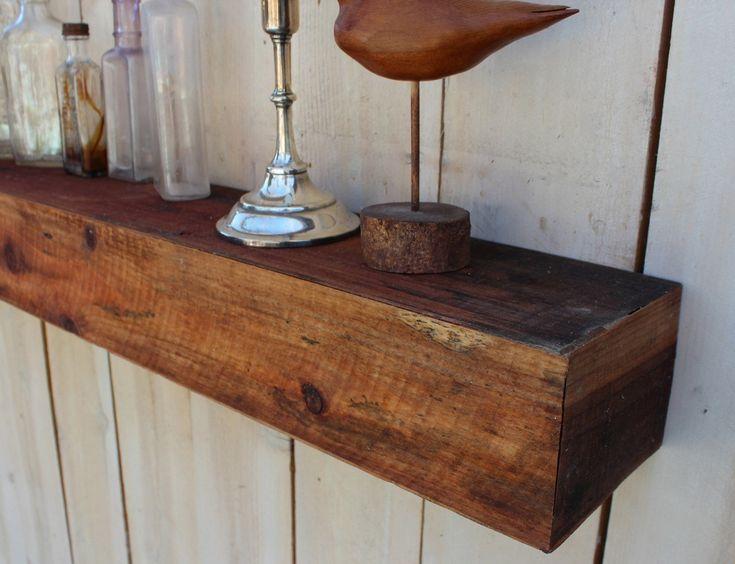 Reclaimed Wood Floating Wall Shelf Farmhouse Chic