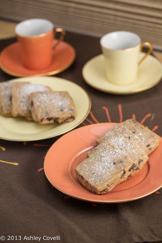 Espresso-Chocolate Shortbread Cookies | Cookie recipes | Pinterest