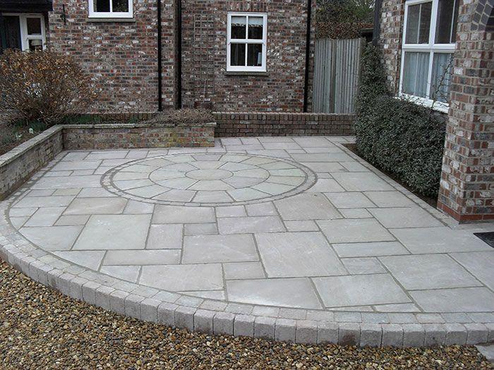 Fairstone riven by c j paving garden pinterest for Cj garden designs