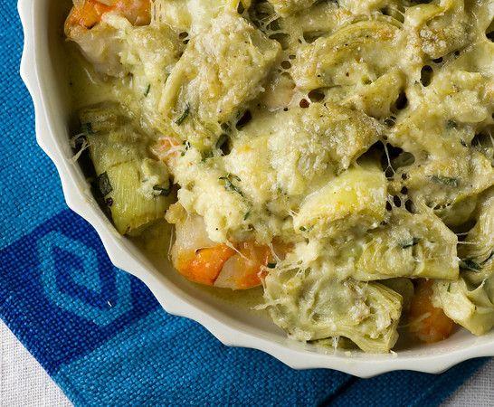 Shrimp Artichoke Pot Pie...a new twist on pot pie!