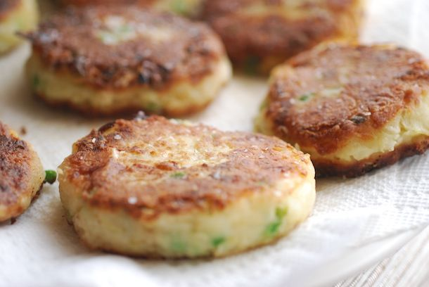 Dessert: Colcannon Cakes with Smoked Salmon (Fried Mashed Potato Cakes ...
