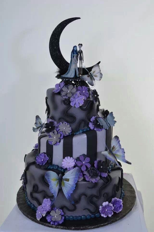 Gallery For Purple Halloween Wedding Cakes