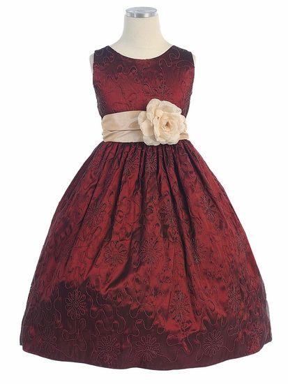 The span Flower girl dresses burgundy instead you
