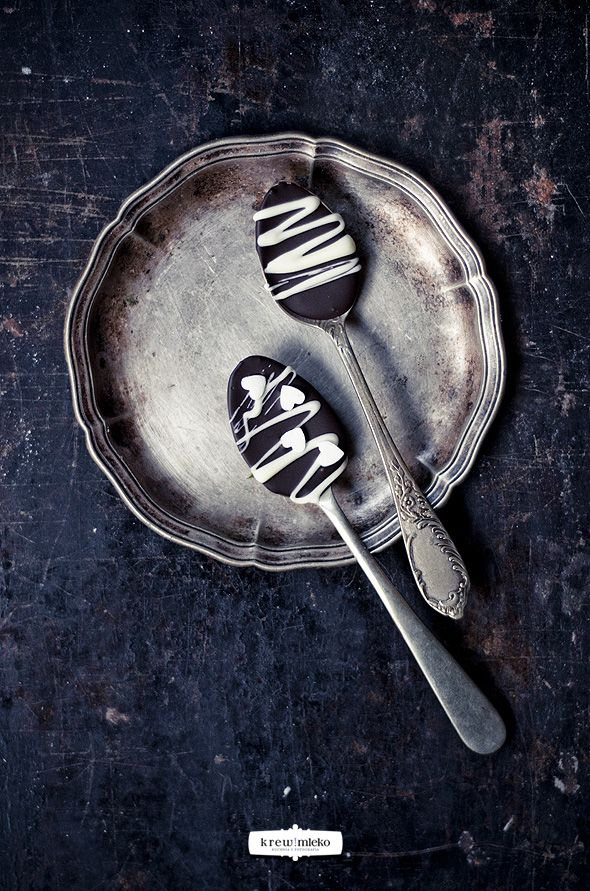 Chocolate spoons   Mmm...   Pinterest
