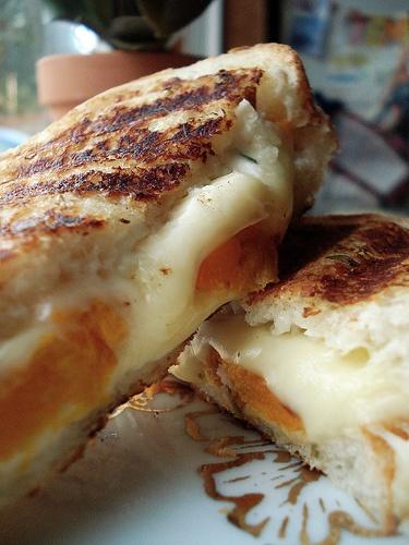 Roasted Butternut Squash and Jarlsberg Panini with Garlic Chive Mayo ...