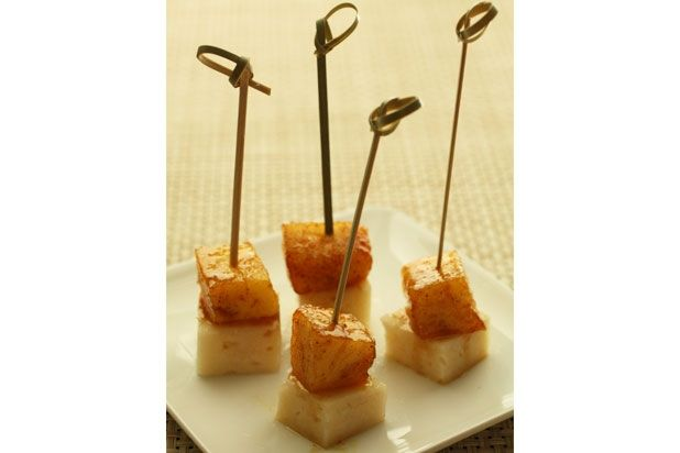 Pineapple Manchego Skewers Recipes — Dishmaps