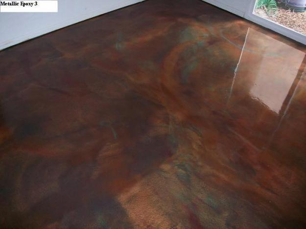 Metallic epoxy concrete floor concrete finishes pinterest for Concrete floor finishes