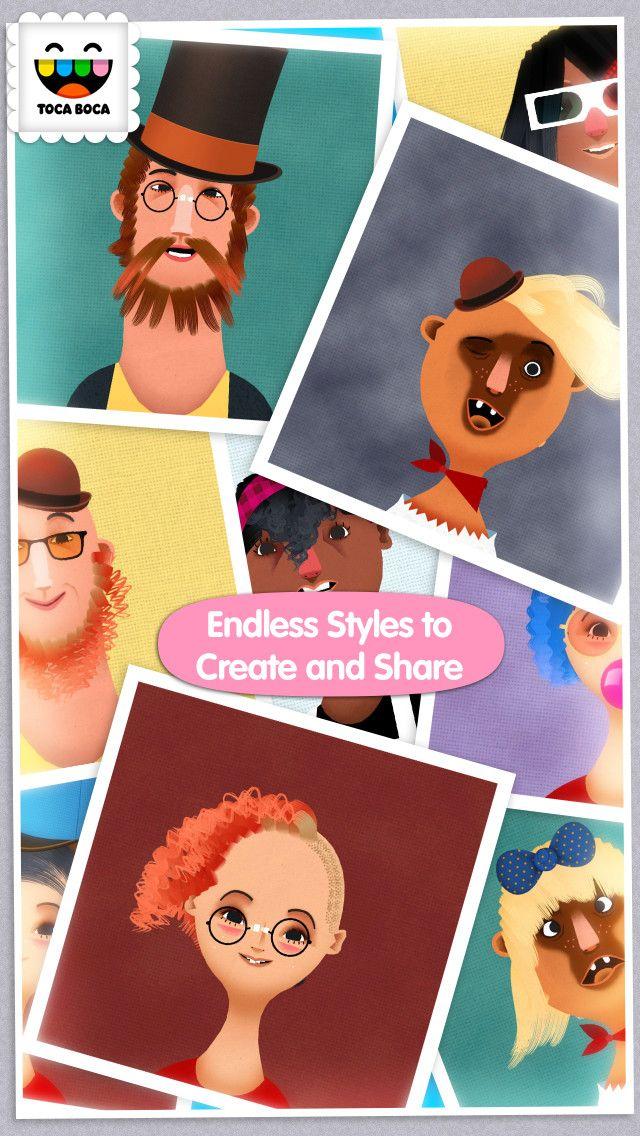 Best Kids Hair Salon : Toca #Hair Salon 2 - In this #kid-friendly, super-creative app, you ...