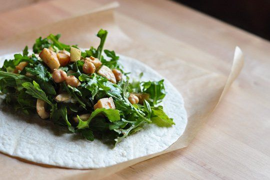 Recipe: Arugula, Apple & Chickpea Salad Wraps — Recipes from The ...