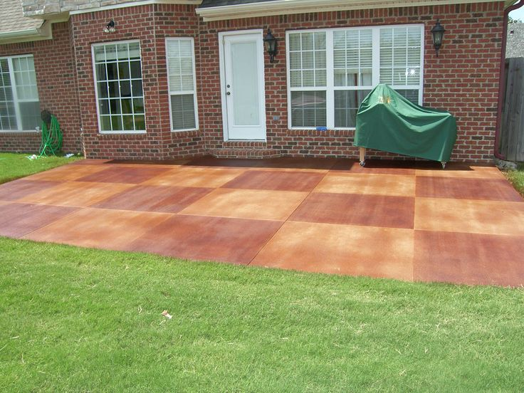 related image with painting concrete patios painted concrete patio ... - Cement Patio Flooring Ideas