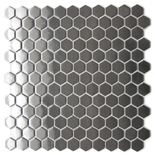 honeycomb stainless steel backsplash