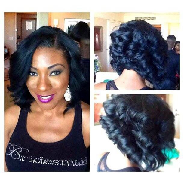 Curly layered bob. To learn how to grow your hair longer click here ...