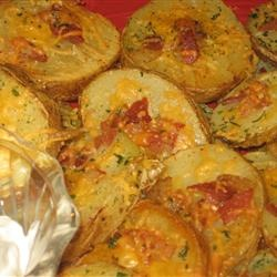 Cheese and bacon potato rounds | Food! | Pinterest