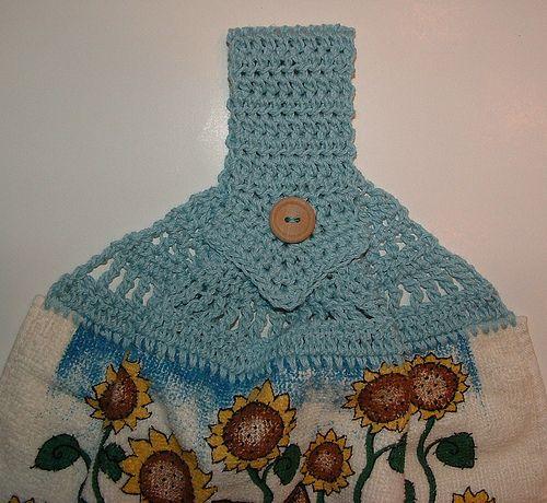 Blue cat crocheted towel topper crochet knitting pinterest