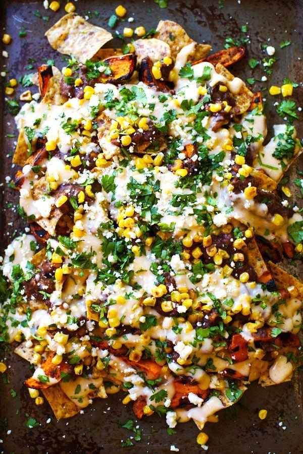 Healthy Grilled Sweet Potato Nachos | Recipe