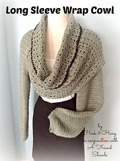 Long Sleeve Wrap Cowl pattern by Melissa R. M. Frank