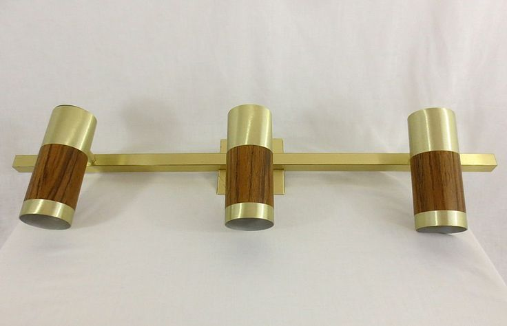 vintage mid century modern incandescent track lighting brass light fi