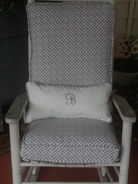 Rocking Chair Cushions And Pillow For Indoor Or Outdoor