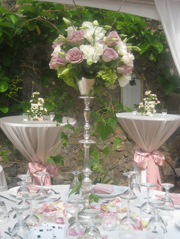 silver white and touch of pink motif wedding packages. Black Bedroom Furniture Sets. Home Design Ideas