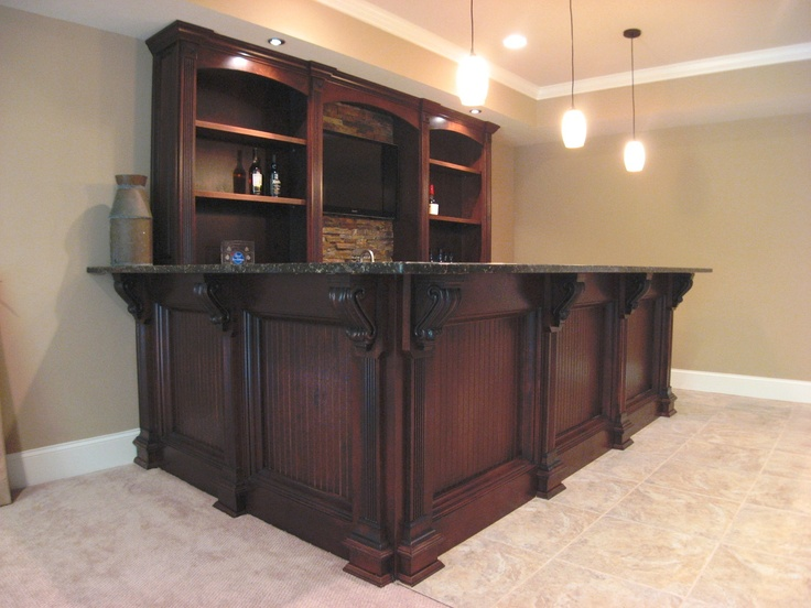 custom maple bar in a basement for the home pinterest