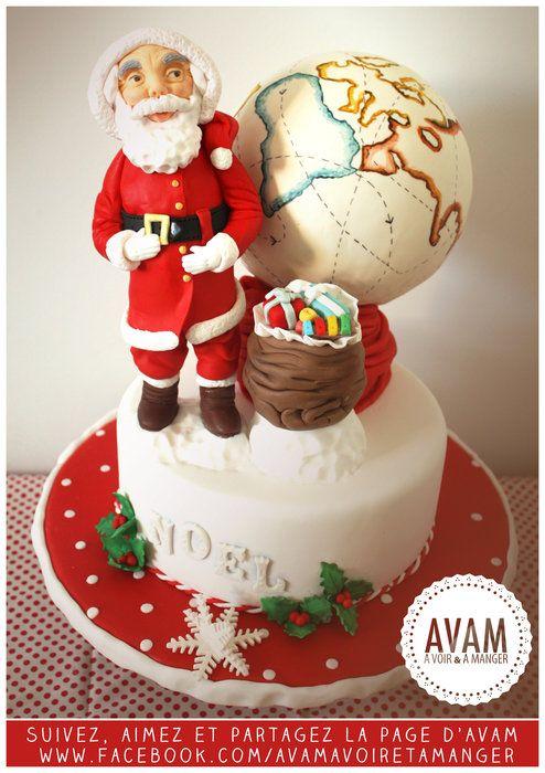 christmas vintage inspiration cake - by Avamlisa @ CakesDecor.com - cake decorating website