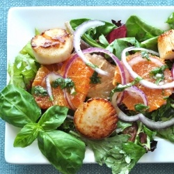 pan seared scallops citrus salad | Recipes I will make someday... | P ...