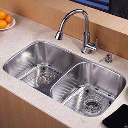 Kraus 32-inch Undermount Stainless Steel 16-gauge Kitchen Sink $249.95