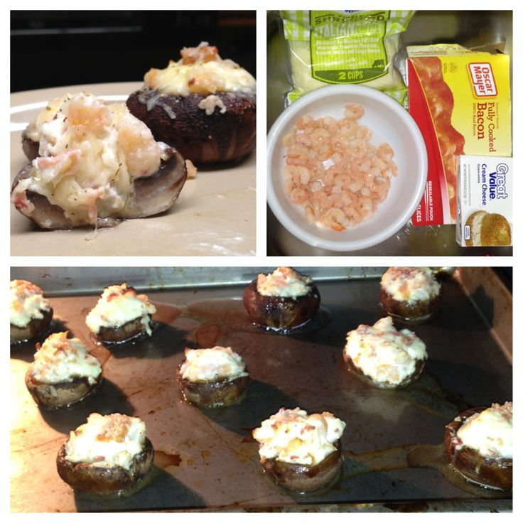 Mouth - Watering Stuffed Mushrooms | Fun food | Pinterest