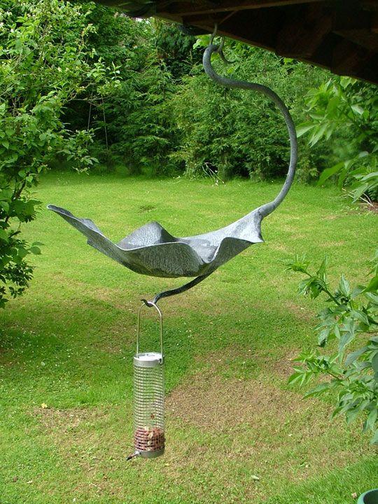 Hanging Bird Bath Feeder Outdoors Pinterest