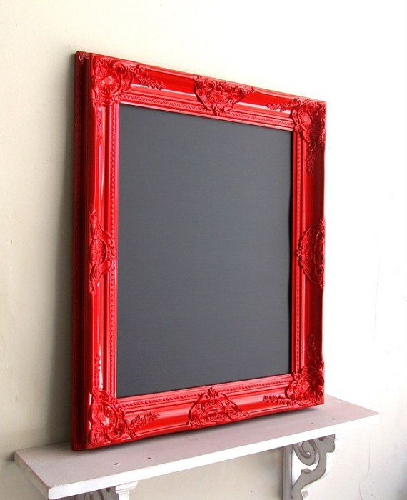 Red Magnetic CHALKBOARD Framed Chalkboard Menu by ShugabeeLane, $124.00