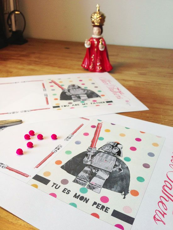 free printable geeky valentines day cards