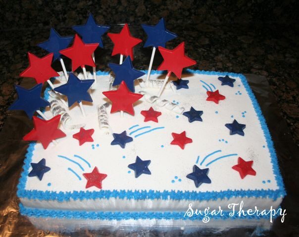 4th of july star cake