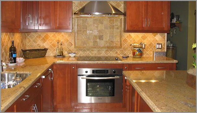 Pin by monica on kitchen ideas pinterest for Kitchen ideas with yellow countertops