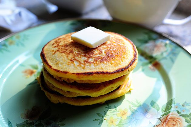 Cornmeal Pancakes With Ham Recipe — Dishmaps
