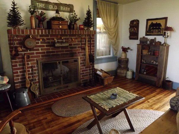 Living Room My Primitive Decor New Home Pinterest