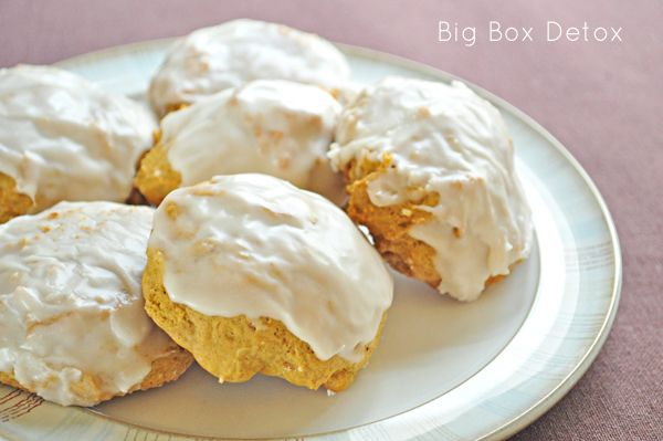 Big Box Detox: Iced Pumpkin Cookies Love pumpkin!