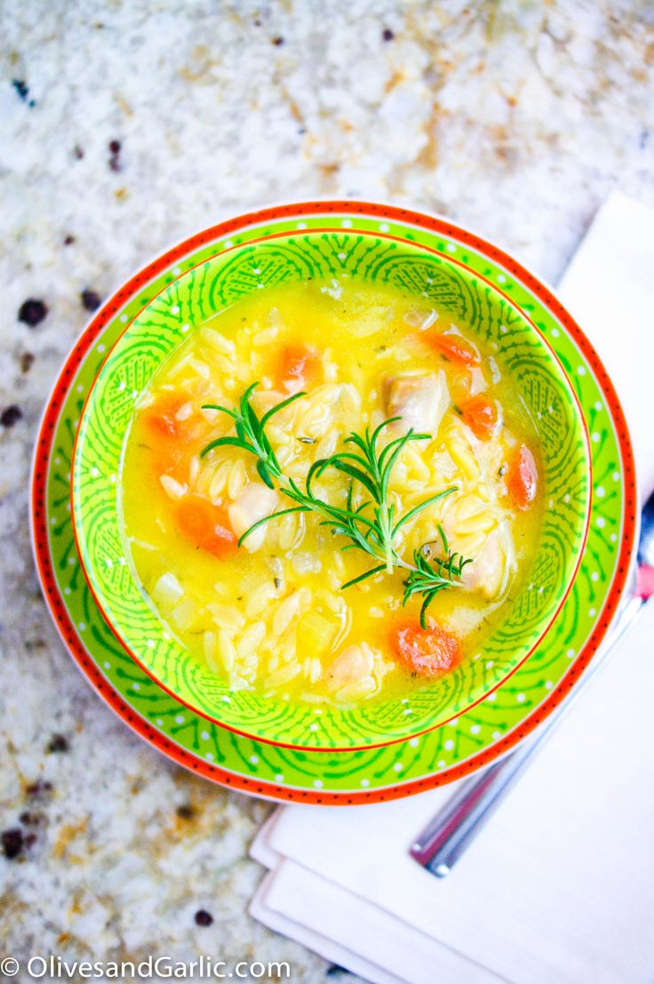 Lemon chicken orzo soup! | Soups, Stews And Chili's | Pinterest