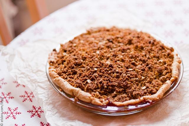 Morello Cherry Pie with Pistachio Crumble