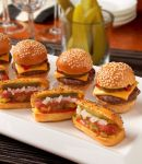 bite sized burgers and dogs | EAT | bite size | Pinterest