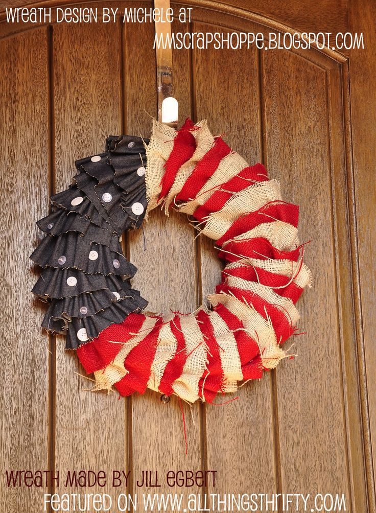 4th burlap wreath