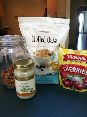 Gluten Free Cherry Almond Granola 3 cups GF Rolled Oats 1/4 cup raw ...