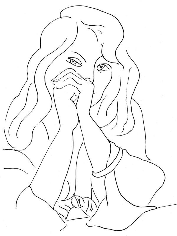 Matisse Contour Line Drawing : H matisse quot portrait of a woman draw pinterest