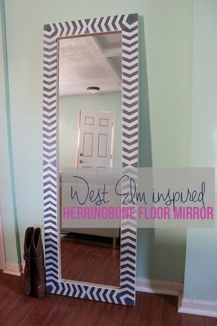 Herringbone mirror