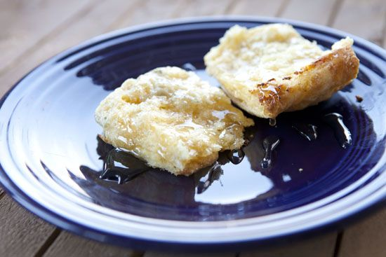 Blue Cheese Biscuits - Drizzled with honey? Ohhh, yes please.