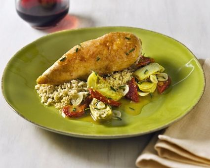 Braised Chicken with Artichokes and Sun-Dried Tomatoes   Recipe