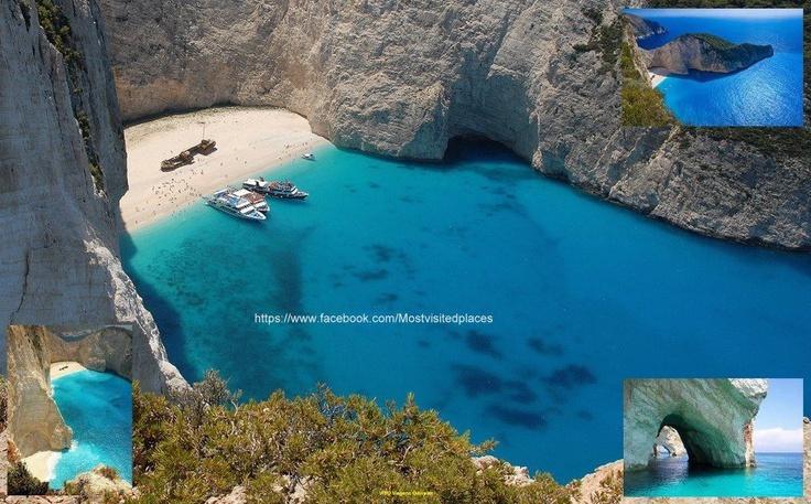 Greece, Zakynthos, Navagio Beach