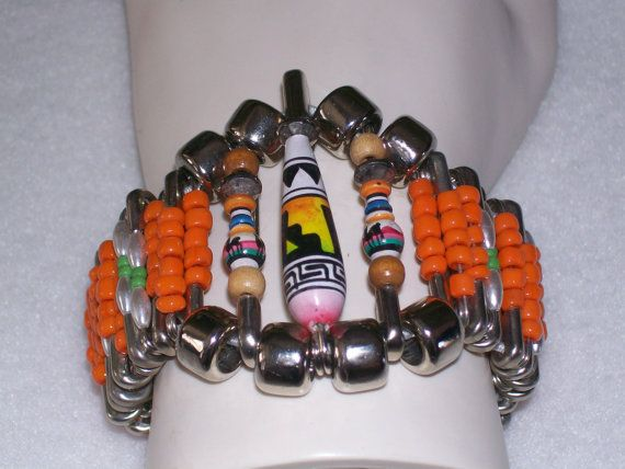 Vintage Southwest Beaded Safety Pin Bracelet by TheVintageBasement, $25.00