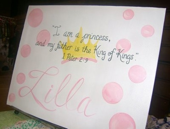 bible verse canvas sign by dreamcustomartwork baby room baby shower